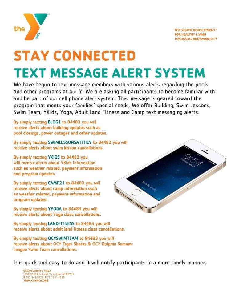 2021 Text Message Alerts information for website